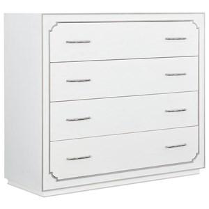 Transitional Four-Drawer Bureau with Cedar-Lined Bottom Drawer