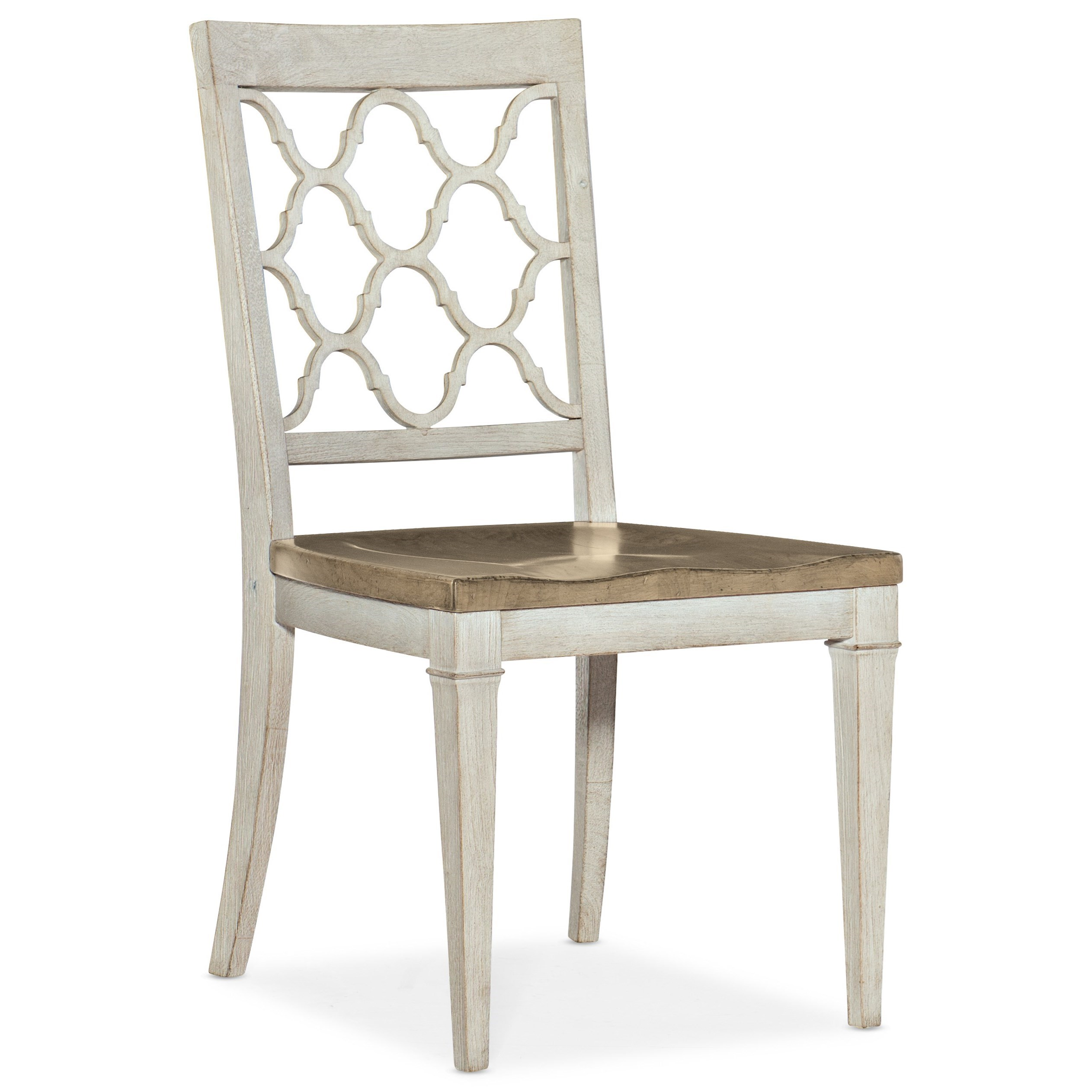 Montebello Wood Seat Side Chair by Hooker Furniture at Miller Waldrop Furniture and Decor