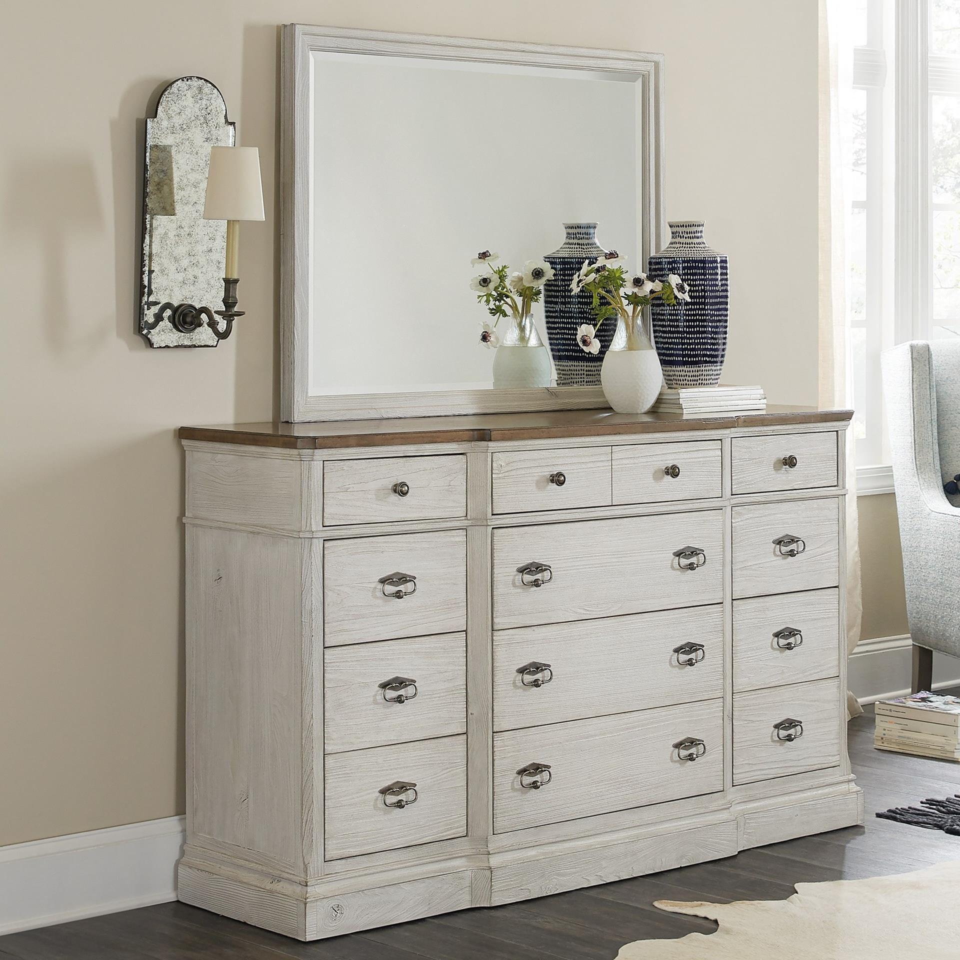 Montebello Dresser + Mirror Set by Hooker Furniture at Baer's Furniture