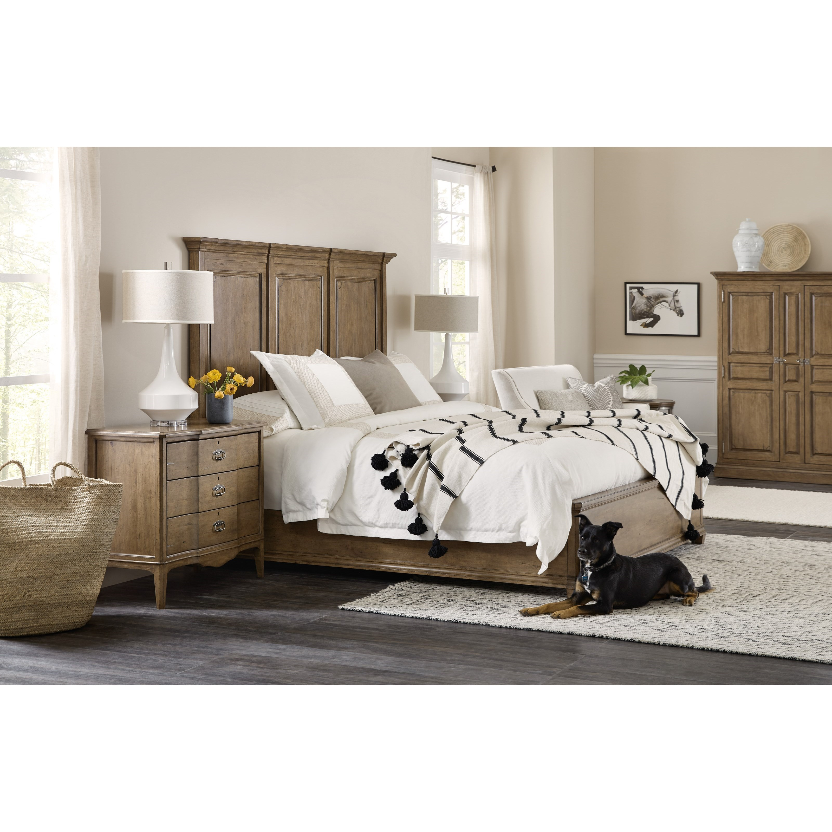 Montebello Queen Bedroom Group by Hooker Furniture at Baer's Furniture