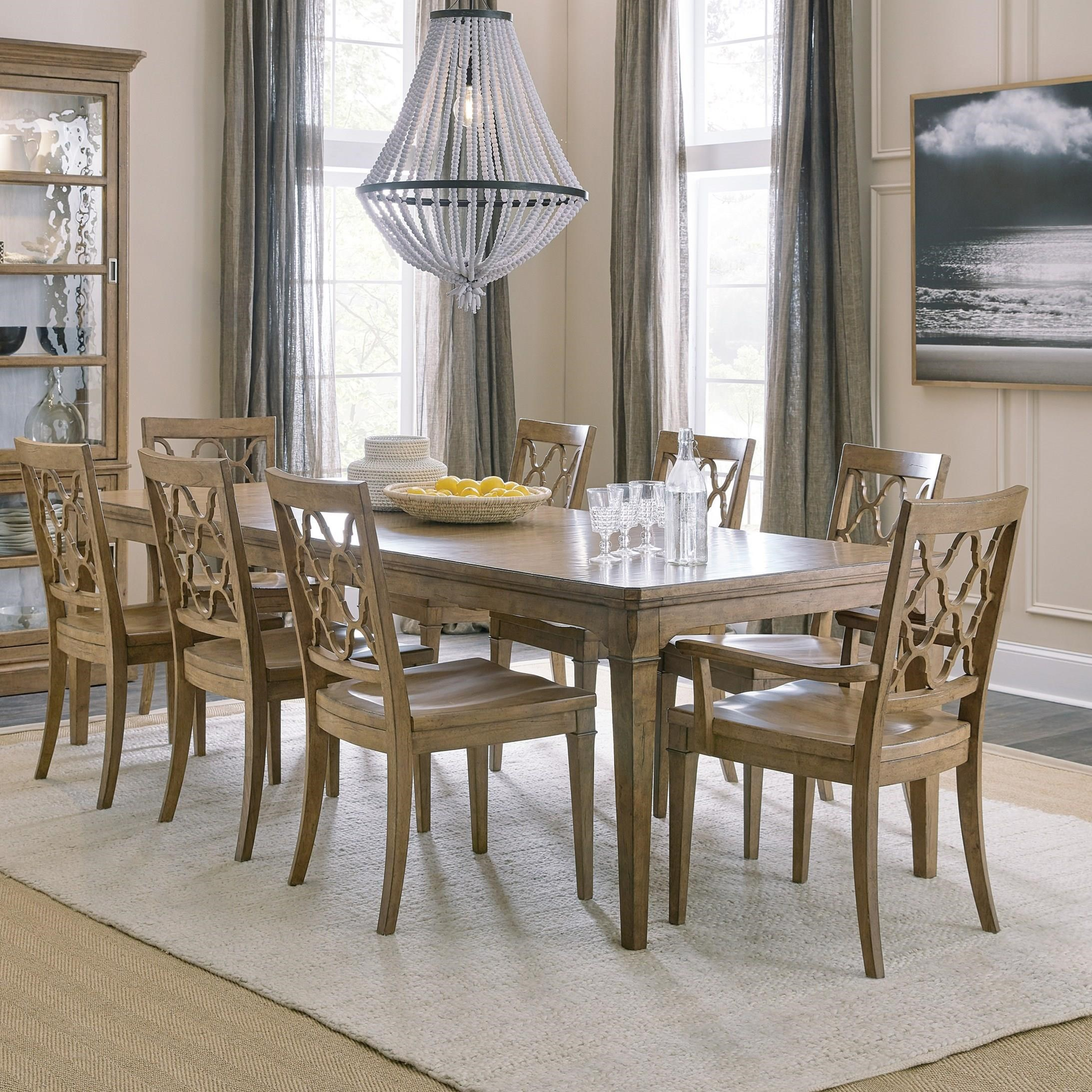 Montebello 9-Piece Dining Set by Hooker Furniture at Baer's Furniture