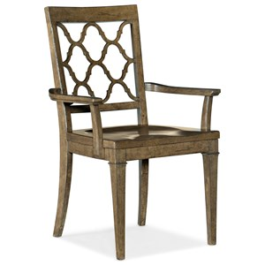 Wood Seat Arm Chair