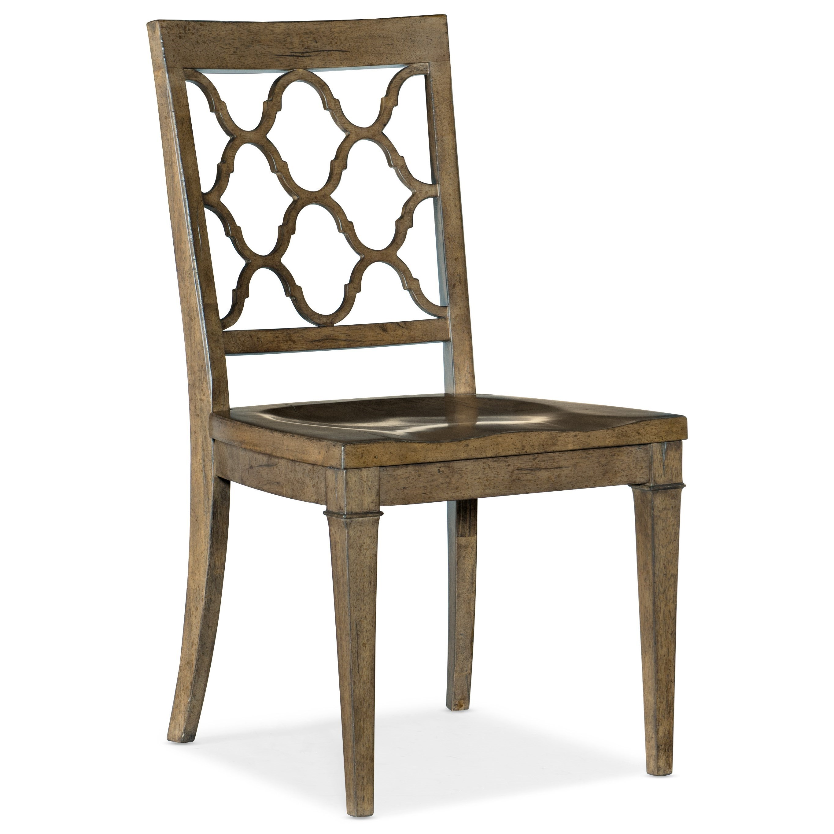 Montebello Wood Seat Side Chair by Hooker Furniture at Baer's Furniture