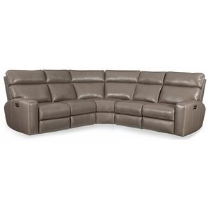 Three Piece Power Reclining Sectional Sofa with Power Headrests and USB Ports