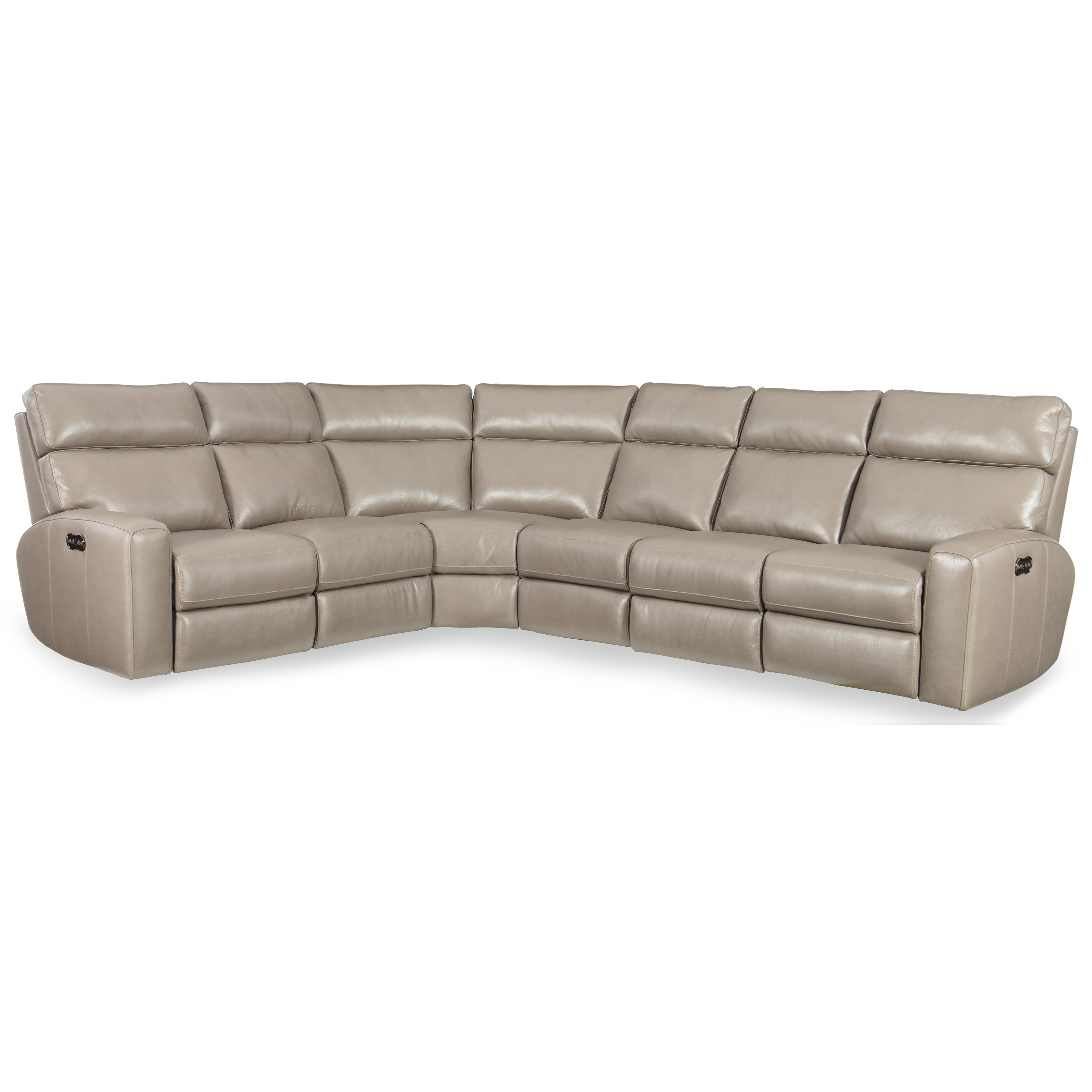 Mowry 4 PC Pwr Motion Sectional w/ Pwr Hdrest by Hooker Furniture at Alison Craig Home Furnishings