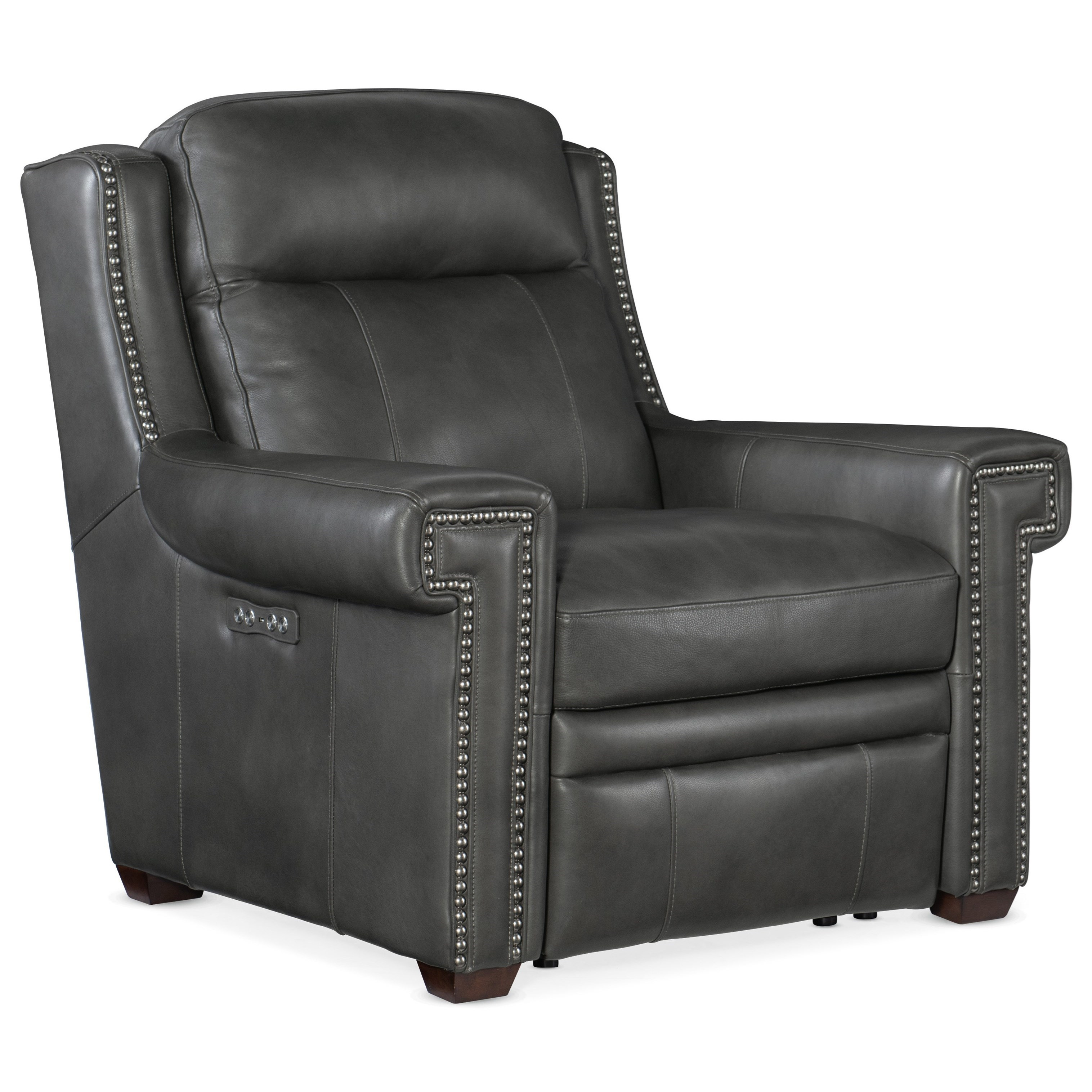 Mulberry Power Recliner w/ Power Headrest by Hooker Furniture at Baer's Furniture