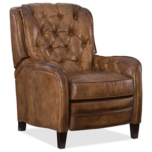 High Leg Recliner with Diamond Tufting