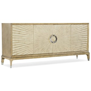 Contemporary Coastside Entertainment Console with Built-In Outlet