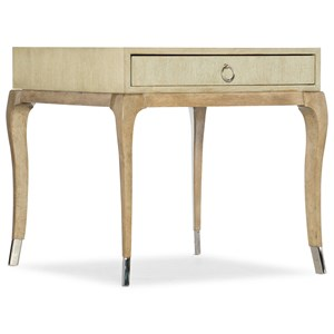 Contemporary Cabrillo Rectangle End Table with One Drawer