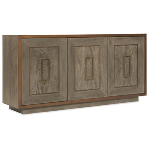 Three Drawer Accent Chest with Wave Motif