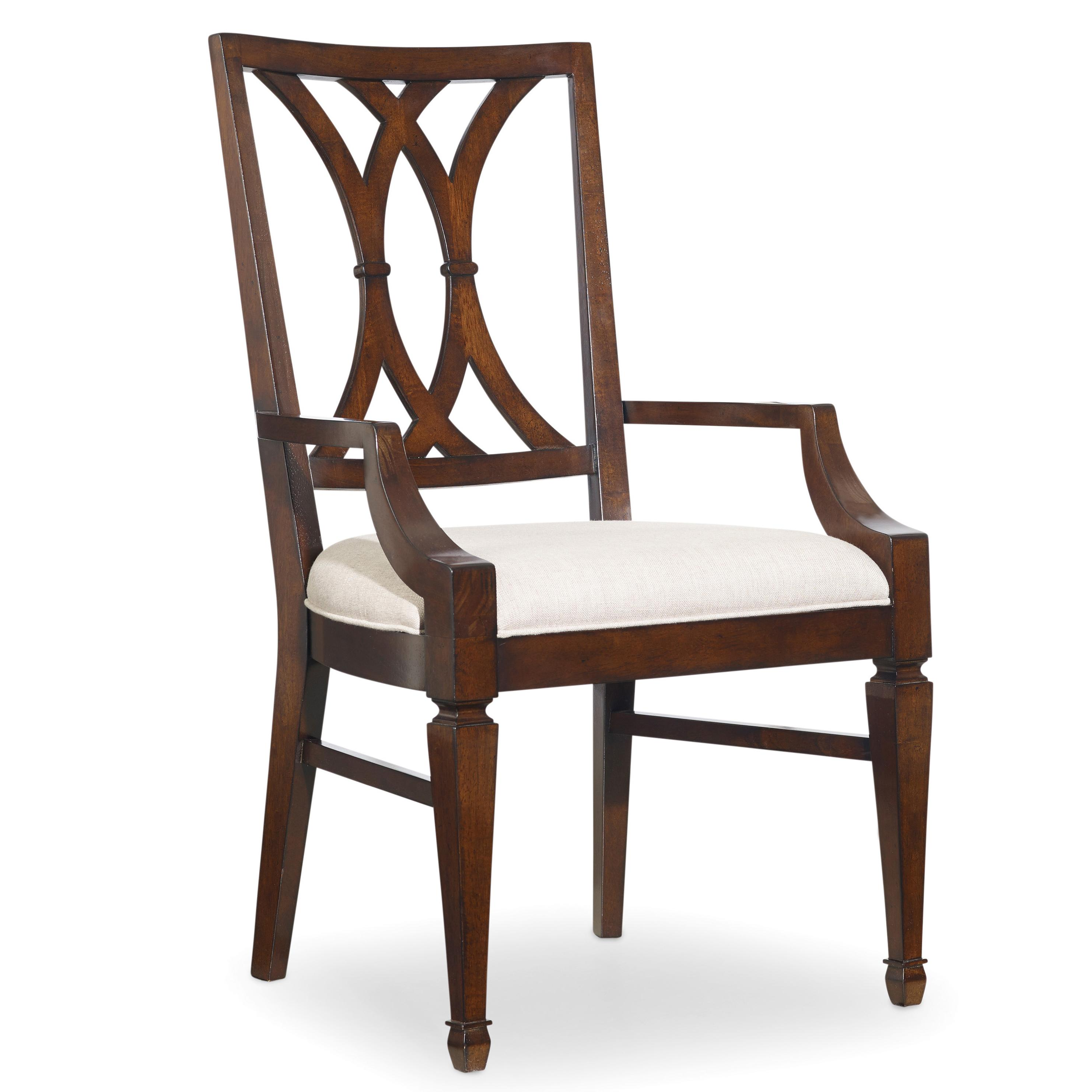 Palisade Splat Back Arm Chair by Hooker Furniture at Alison Craig Home Furnishings