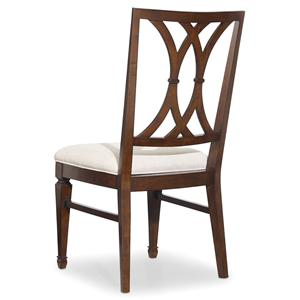 Splat Back Dining Side Chair with Tapered Legs