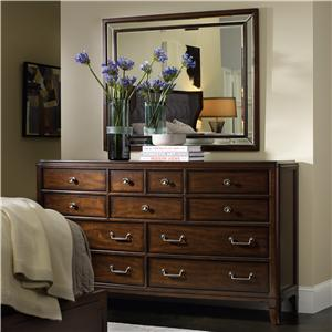 11 Drawer Dresser with Wall Mirror Set