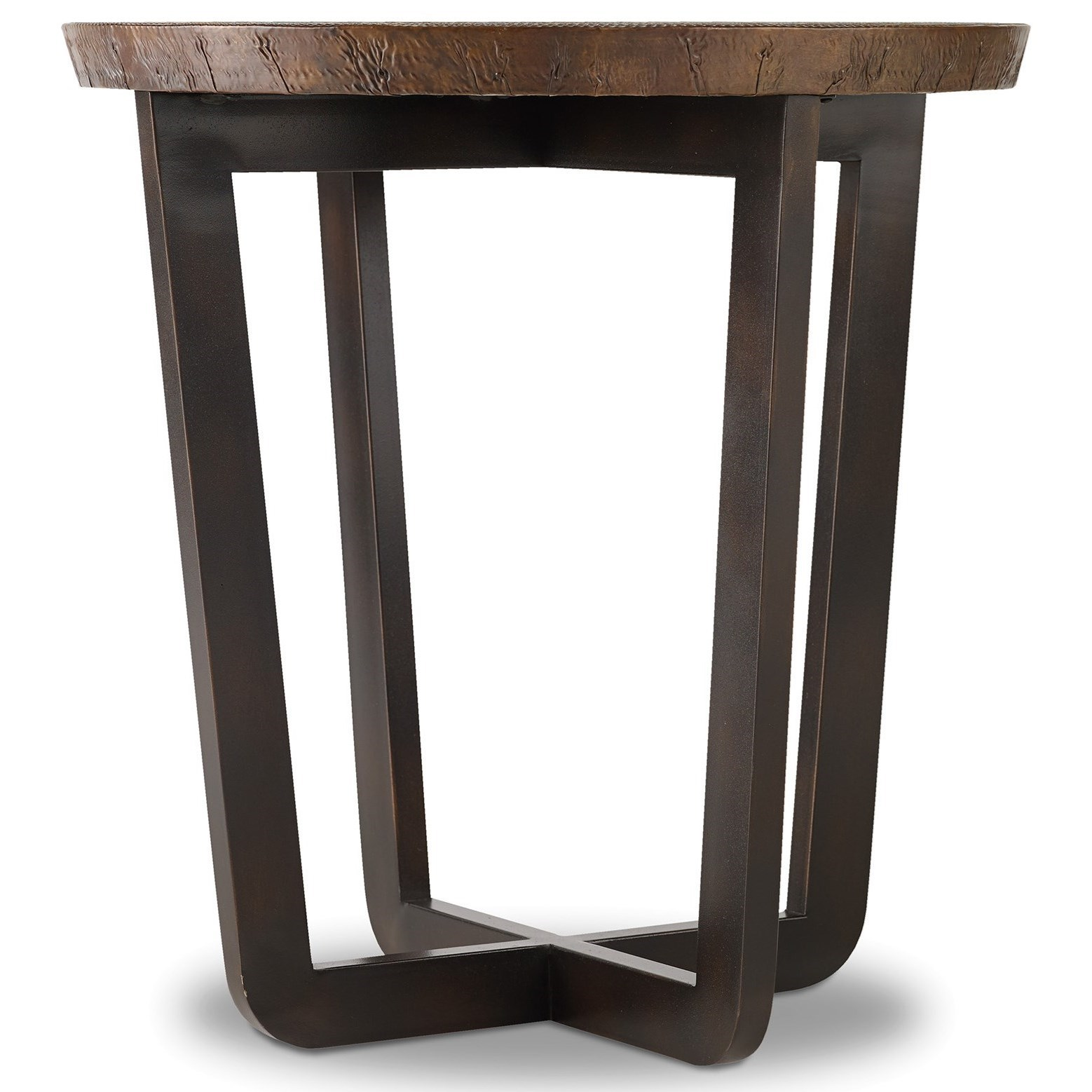 Parkcrest Round End Table by Hooker Furniture at Miller Waldrop Furniture and Decor