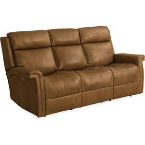 Casual Leather Motion Sofa with USB Ports