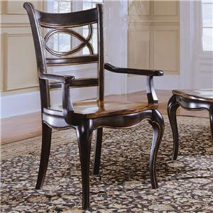 Hooker Furniture Preston Ridge Oval Back Dining Arm Chair