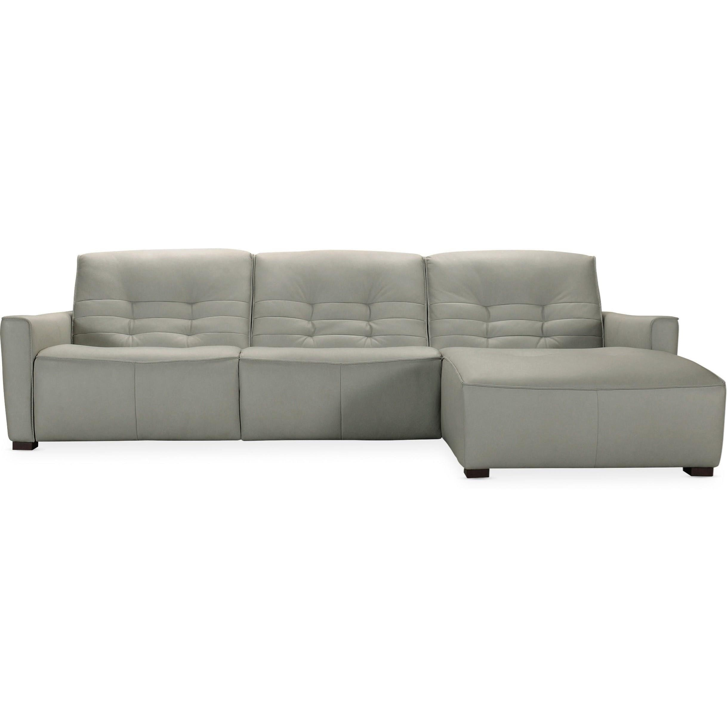 Reaux Power Motion Sectional with RAF Chaise by Hooker Furniture at Mueller Furniture
