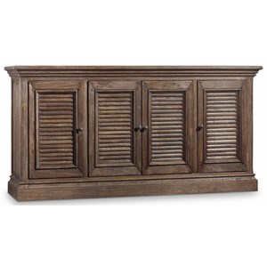 Entertainment Console with Adjustable Shelves