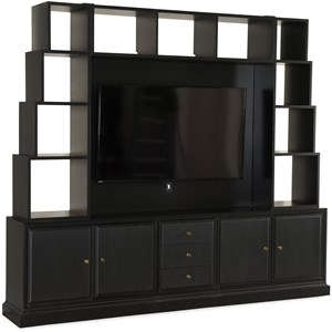 Transitional 5-Piece Entertainment Wall Group