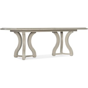 Transitional Rectangle Dining Table with Two Leaves