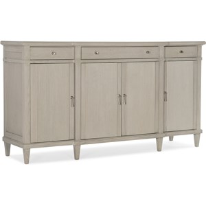 Transitional 4-Door, 3-Drawer Buffet
