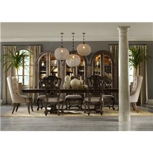Hooker Furniture Rhapsody Rectangular Dining Group w/ 2 Tufted Chair