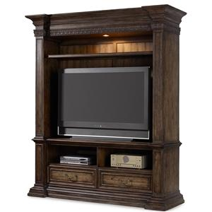 "Hooker Furniture Rhapsody 78"" Entertainment Console and Hutch"