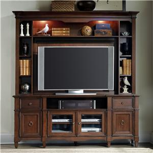 Hooker Furniture Riley Riley Entertainment Console and Hutch Set