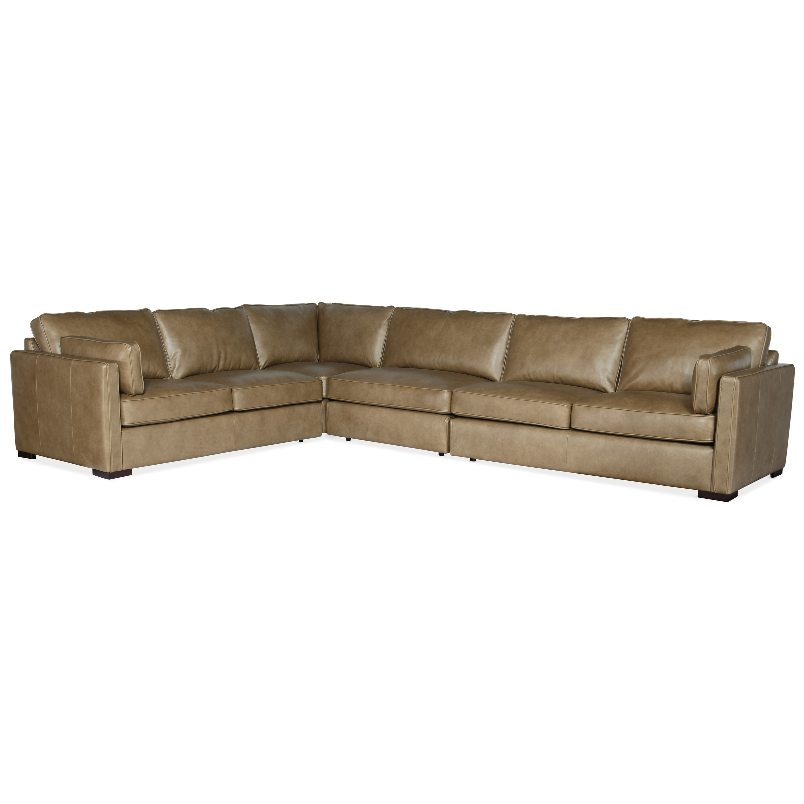 Romiah 4-Piece Stationary Sectional by Hooker Furniture at Miller Waldrop Furniture and Decor