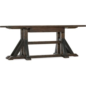 Trestle Desk with Drop Front Drawer