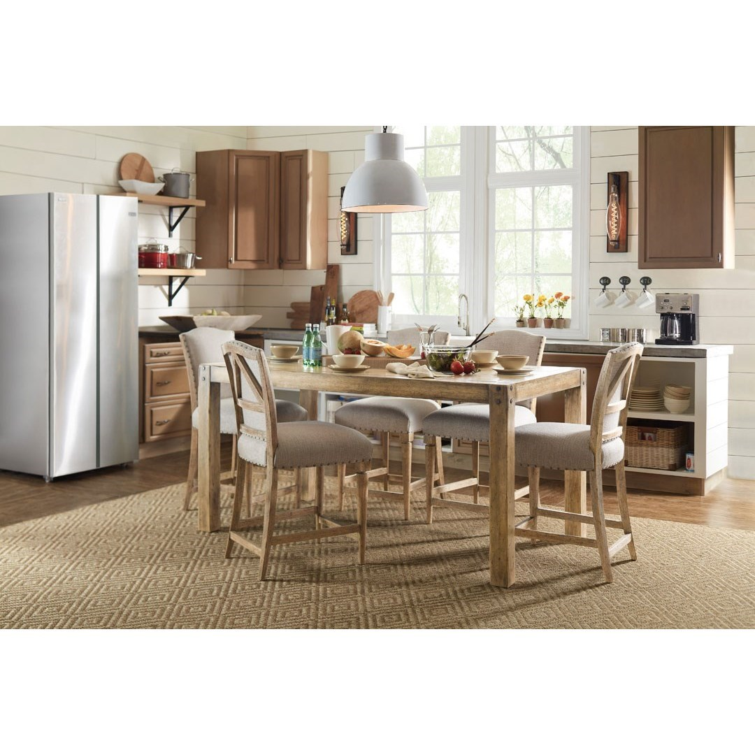 American Life - Roslyn County Kitchen Island and Counter Height Stool Set by Hooker Furniture at Baer's Furniture