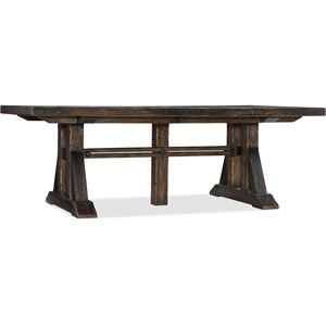 Trestle Dining Table with Two 21 inch leaves
