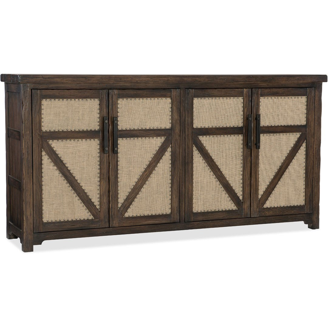 American Life - Roslyn County 4 Door Buffet by Hooker Furniture at Zak's Home