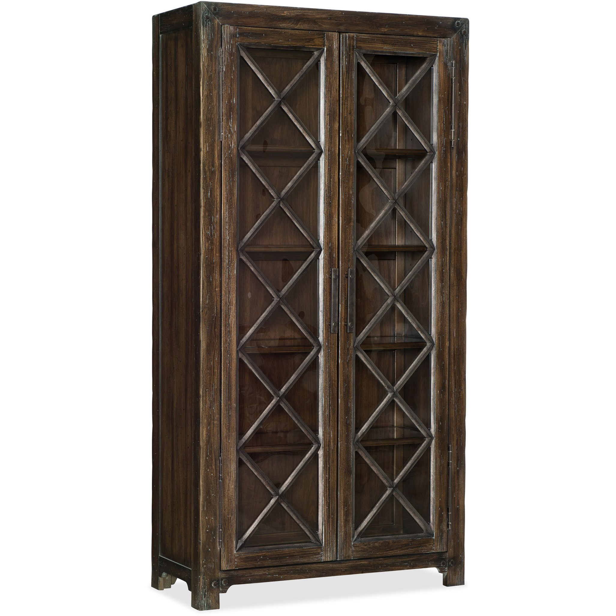 American Life - Roslyn County Bunching Display Cabinet by Hooker Furniture at Baer's Furniture