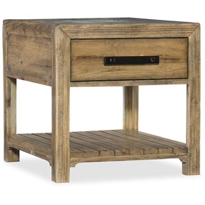 End Table With Shelf and Storage Drawer