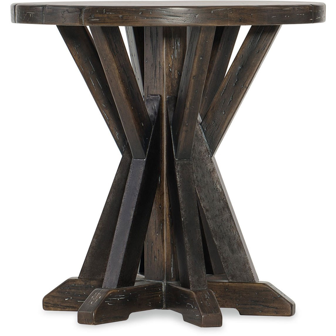 American Life - Roslyn County Round End Table by Hooker Furniture at Miller Waldrop Furniture and Decor