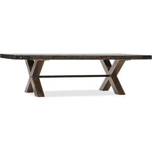 Rectangular Trestle Cocktail Table
