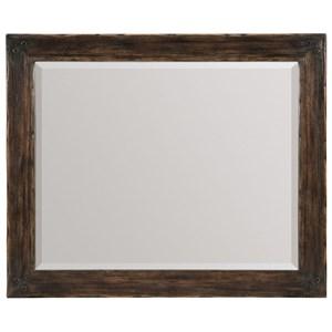 Wood Framed Landscape Mirror