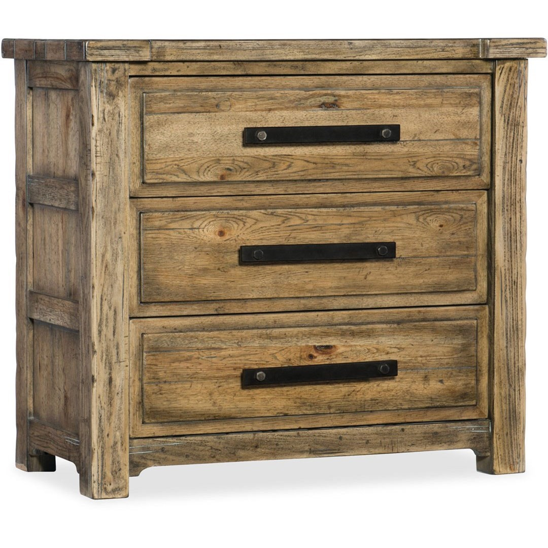 American Life - Roslyn County Three-Drawer Nightstand by Hamilton Home at Sprintz Furniture