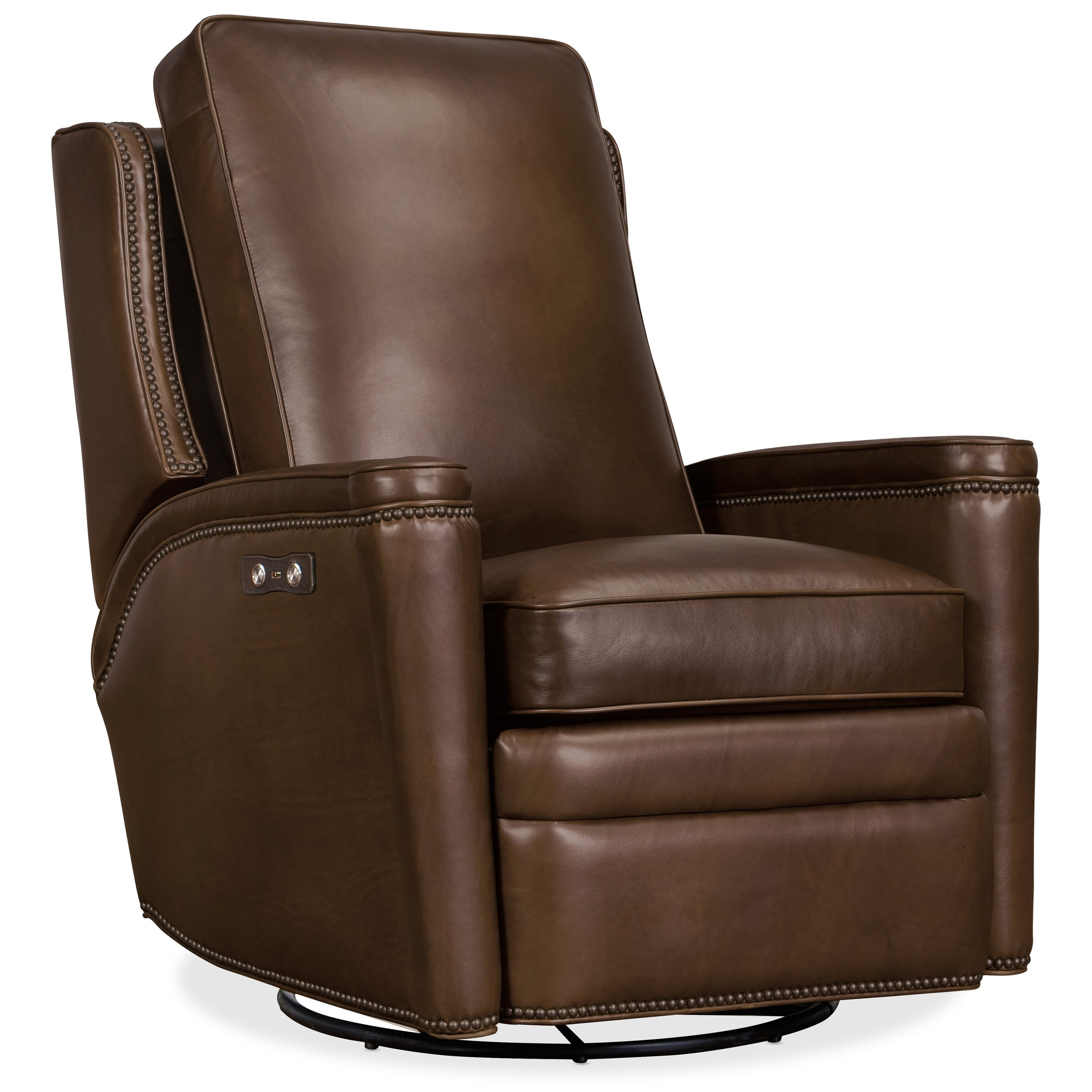 Rylea Power Swivel Glider Recliner by Hooker Furniture at Miller Waldrop Furniture and Decor