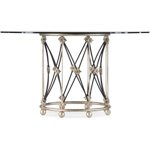 Metal Pirouette Dining Table Base