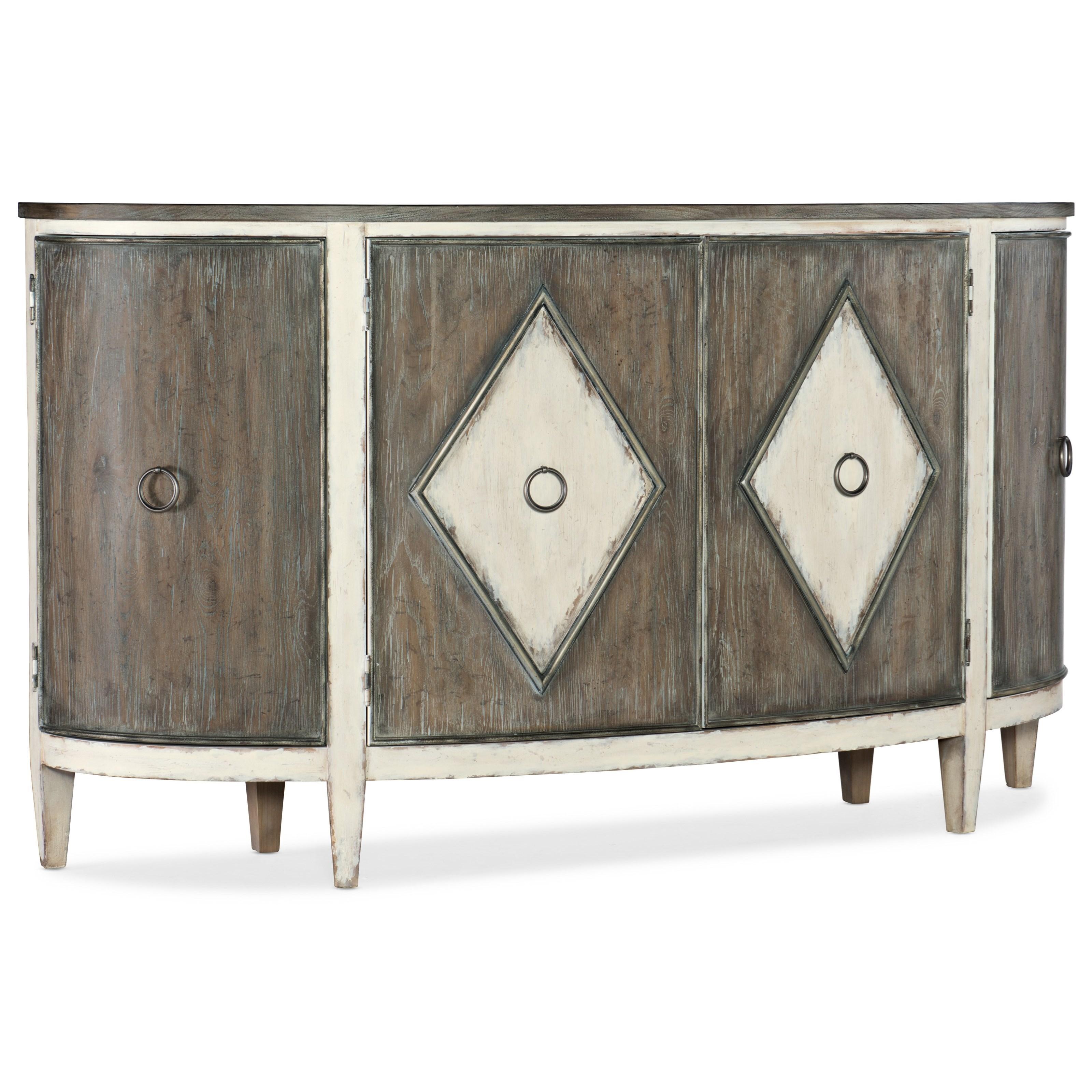 Sanctuary Et Jolie Demilune Buffet by Hooker Furniture at Stoney Creek Furniture