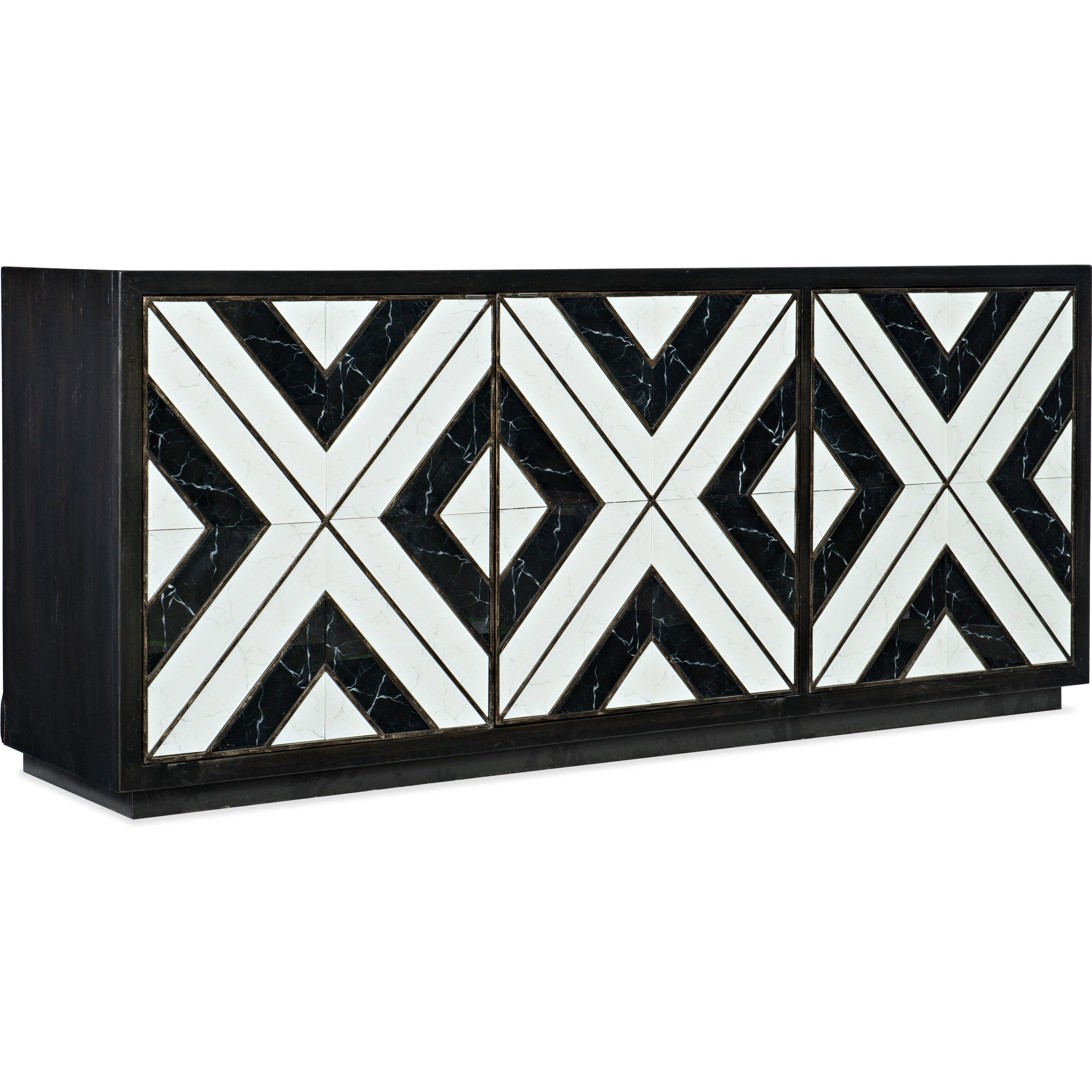 Sanctuary Noir Et Blanc Entertainment Consol by Hooker Furniture at Goods Furniture