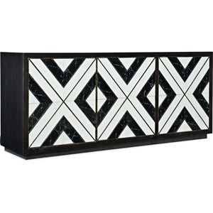 Contemporary Noir Et Blanc Entertainment Console