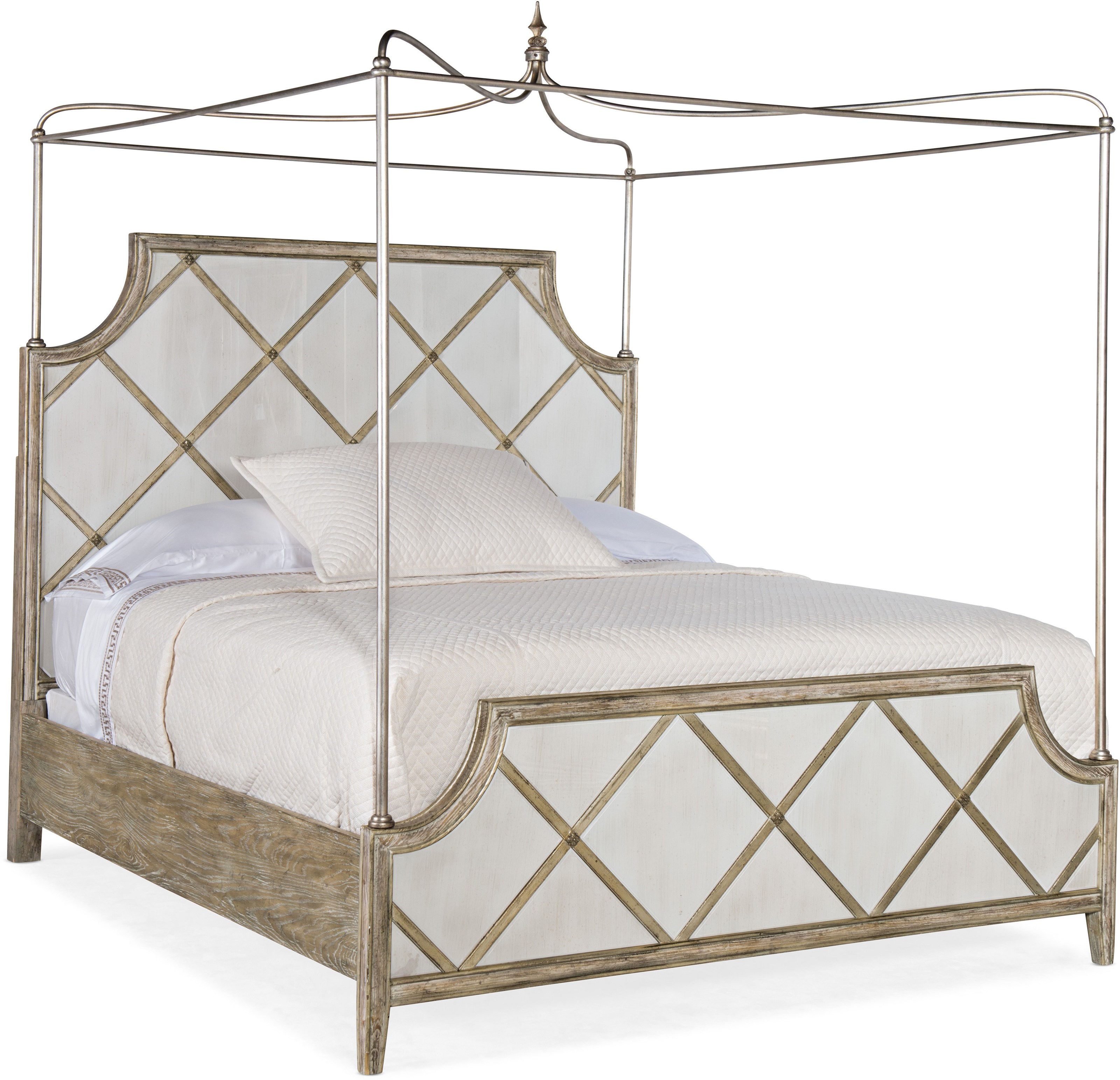 Sanctuary Diamont California King Canopy Bed by Hooker Furniture at Miller Waldrop Furniture and Decor