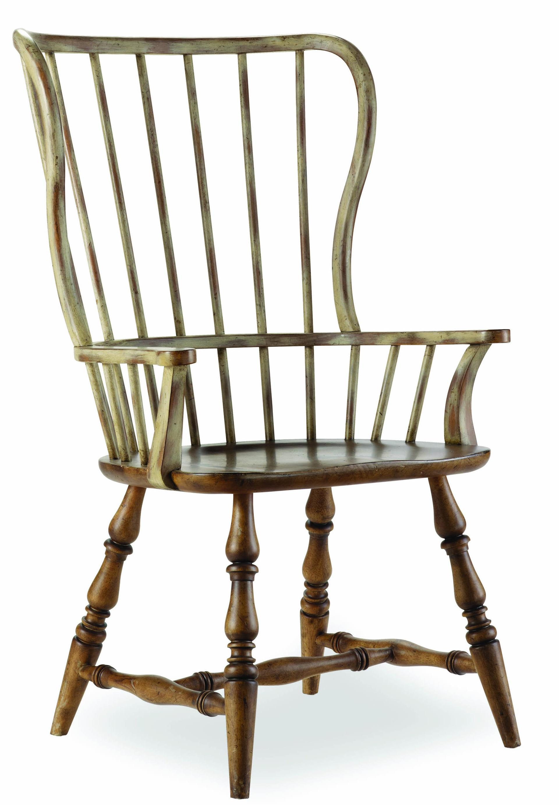 Sanctuary Spindle Back Arm Chair by Hooker Furniture at Stoney Creek Furniture