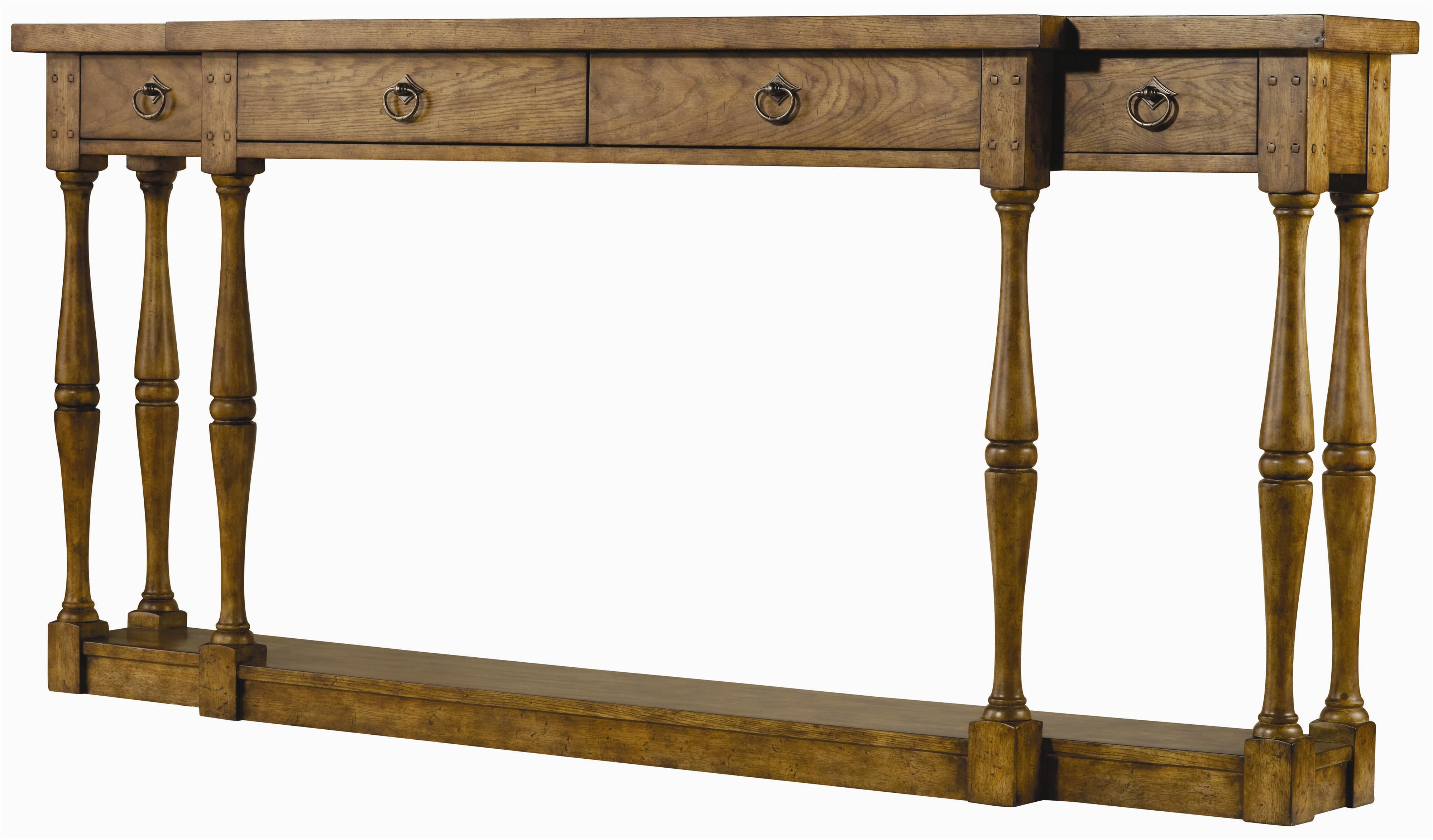 Sanctuary Four Drawer Thin Console by Hooker Furniture at Baer's Furniture