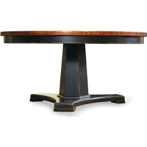 48 in Round Pedestal Dining Table