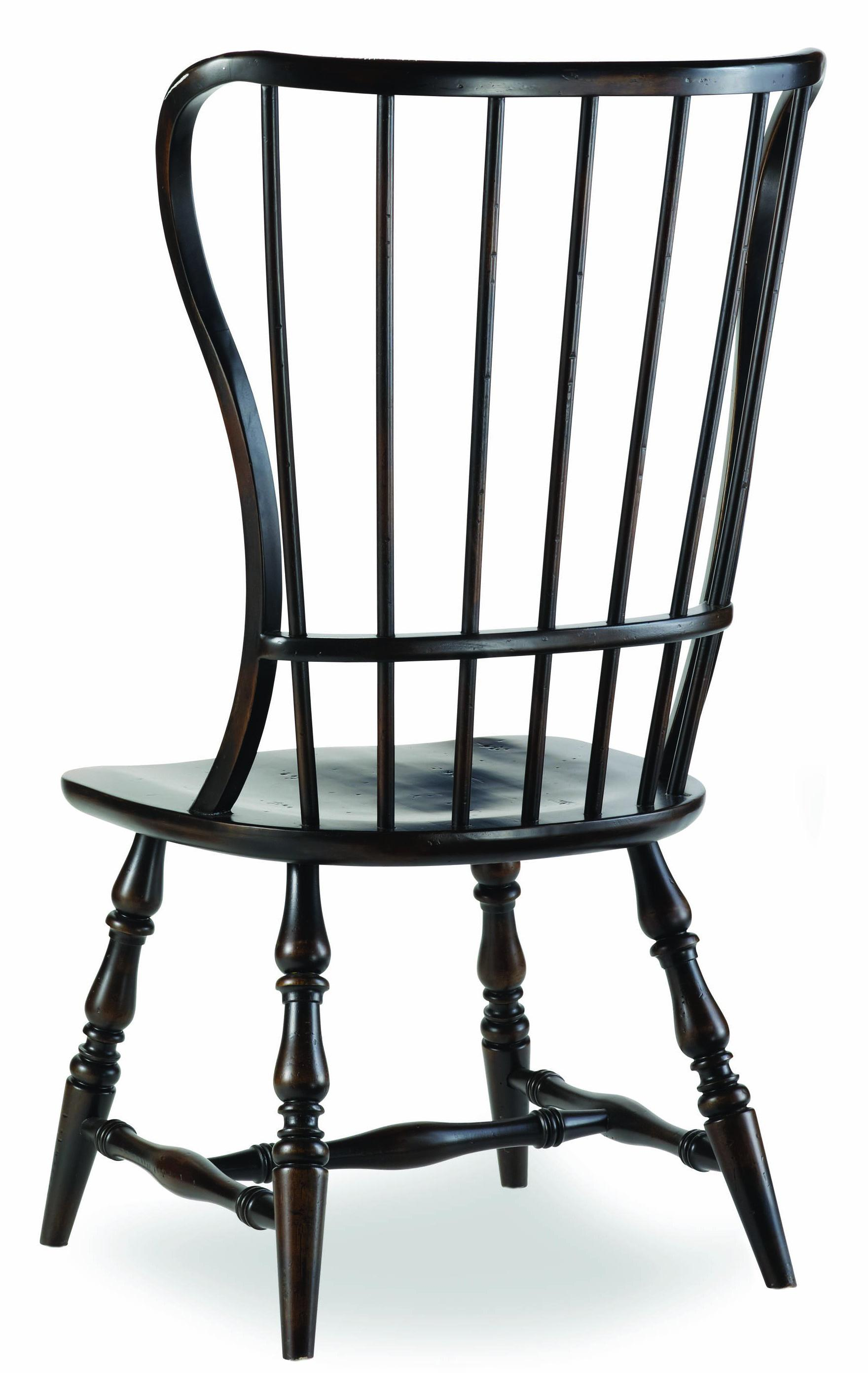 Sanctuary Spindle Back Side Chair by Hooker Furniture at Stoney Creek Furniture