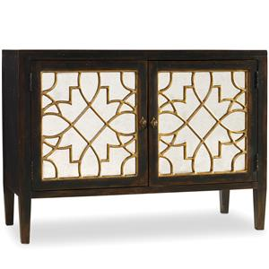 2 Door Mirrored Console with Ebony Finish